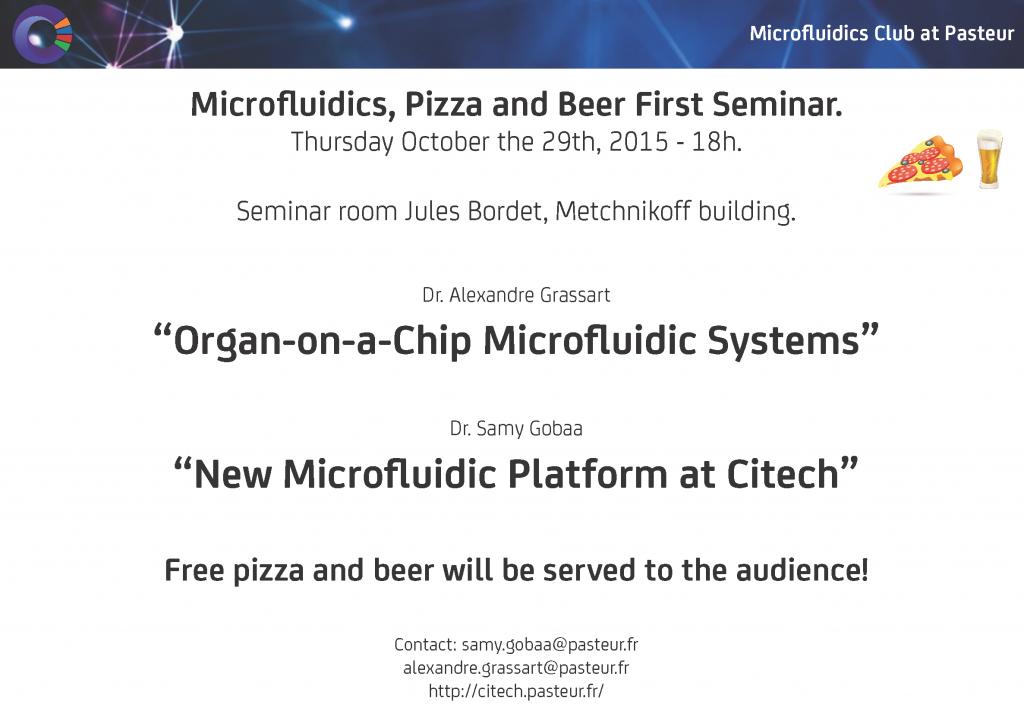 Flyer Microfluidics club Seminar 01