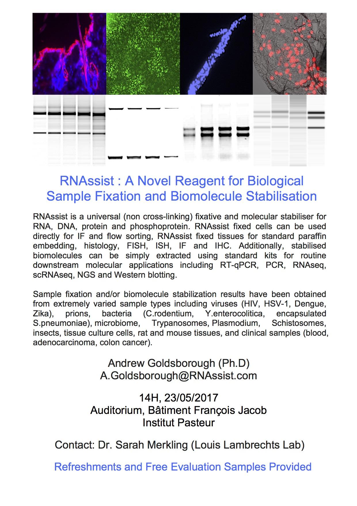 RNAssist : A Novel Reagent for Biological Sample Fixation