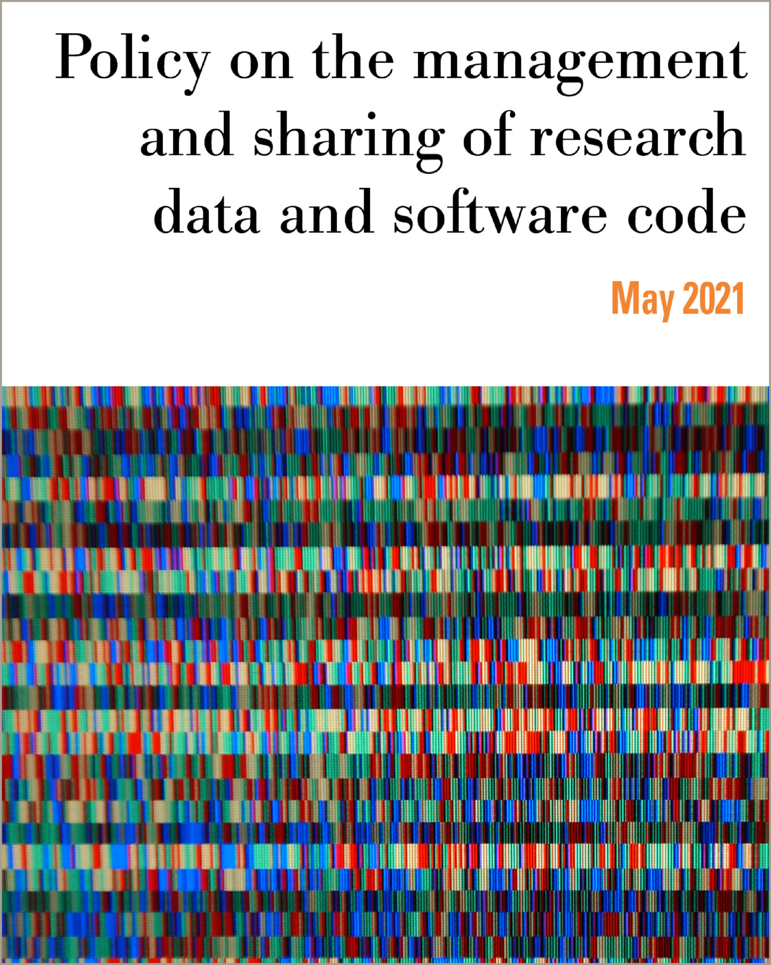 Policy on the management and sharing of research data and software code